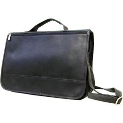 LeDonne Black Leather Messenger Bag