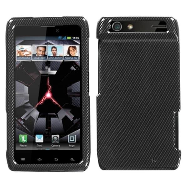 INSTEN Carbon Fiber Phone Case Cover for Motorola XT912 Droid Razr