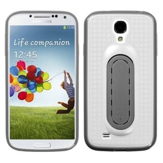 INSTEN White Snap Tail Stand Phone Case Cover for Samsung Galaxy S IV/ S4