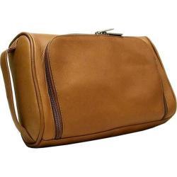 Men's LeDonne TR-492 Tan Leather Toiletry Bag