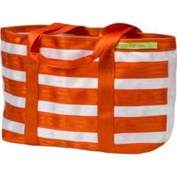 Women's Maggie Bags Tote of Many Colors Orange/White