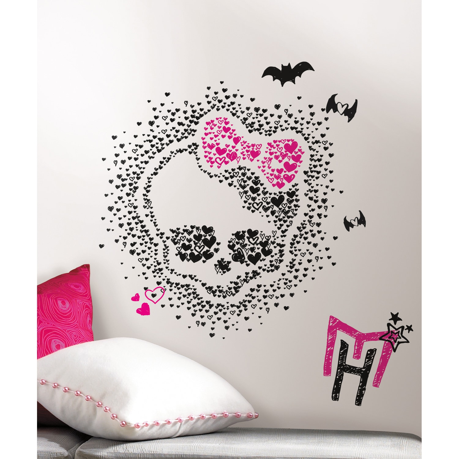 RoomMates Monster High Heart Skullette Peel & Stick Wall ...