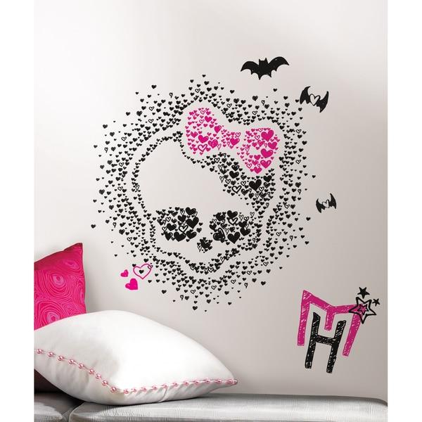 Monster High Heart Skullette Peel U0026amp; Stick Wall Decals