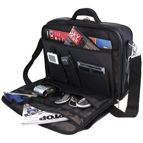 Men's Mobile Edge Premium Briefcase- 15.6inPC/17inMac Silver/Black - Thumbnail 2
