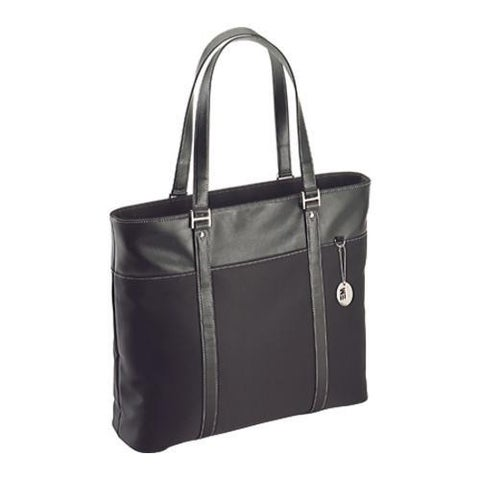 "Mobile Edge - Ultra Tote - 17.3"" - MicroFiber w/Leather Trim - Black"