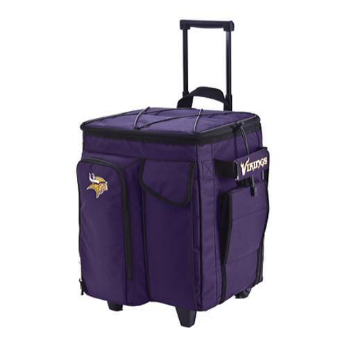 Men's NFL Luggage Tailgate Cooler with Trays Minnesota Vikings/Purple