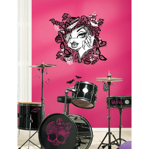 Monster High Face with Lace Peel & Stick Wall Decals