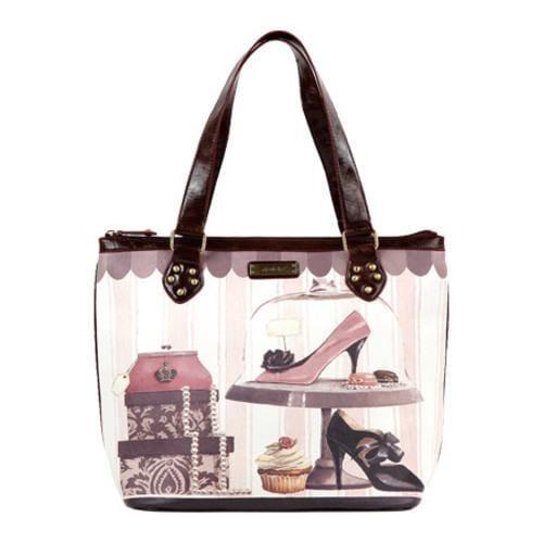 0c26cc06b1e3 Shop Women s Nicole Lee Gitana Paris Print Tote Sweet Obsession - Free  Shipping Today - Overstock.com - 8069327