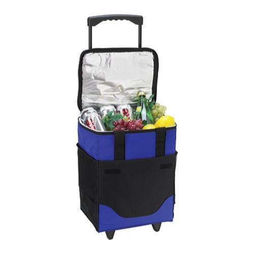 Picnic at Ascot 32-Can Collapsible Rolling Cooler Royal Blue