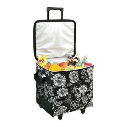 Picnic at Ascot 60-Can Collapsible Rolling Cooler Print Night Bloom