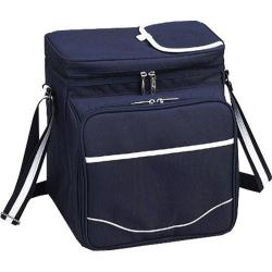 Picnic at Ascot Bold Picnic Cooler for Two Navy/White