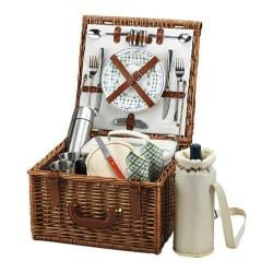 Picnic at Ascot Cheshire Basket for Two with Coffee Service Wicker/Gazebo