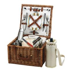 Picnic at Ascot Cheshire Basket for Two with Coffee Service Wicker/Santa Cruz