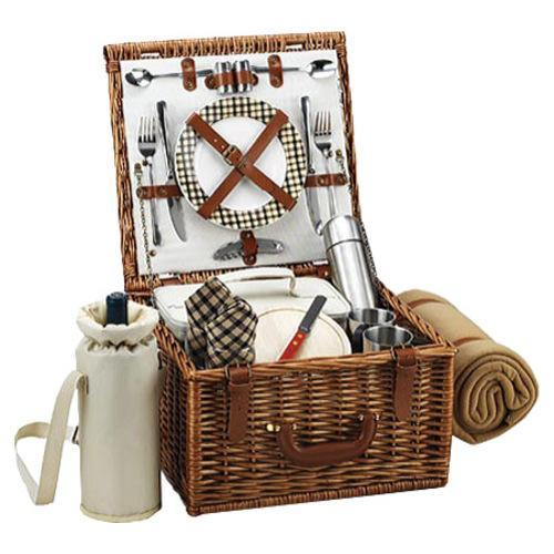 Jackaroo Wicker Basket Picnic Set : Picnic at ascot cheshire basket for two with coffee set