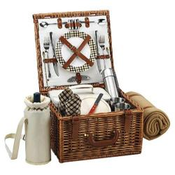 Picnic at Ascot Cheshire Basket for Two with Coffee Set/Blanket Wicker/Gazebo