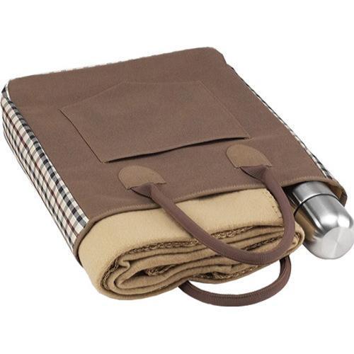 Picnic at Ascot Coffee and Blanket Tote Brown/Check - Thumbnail 2