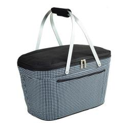 Picnic at Ascot Collapsible Insulated Basket Houndstooth