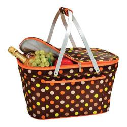 Picnic at Ascot Collapsible Insulated Basket Julia Dot
