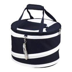 Picnic at Ascot Collapsible Picnic Cooler Navy/White