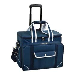 Picnic at Ascot Deluxe Picnic Cooler for Four/Wheeled Cart Navy