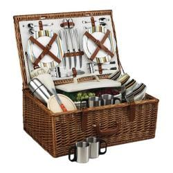 Picnic at Ascot Dorset Basket for Four with Coffee Service Wicker/Santa Cruz