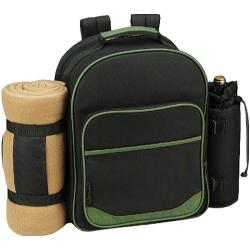 Picnic at Ascot Eco Picnic Backpack for Four with Blanket Forest Green