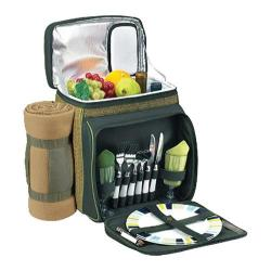 Picnic at Ascot Eco Picnic Cooler For Two with Blanket Forest Green