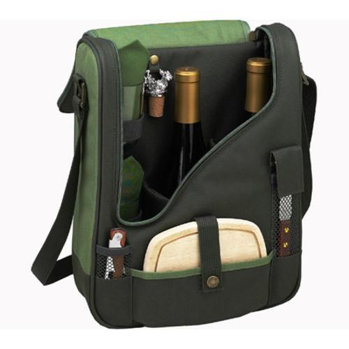 Picnic at Ascot Eco Pinot Wine and Cheese Cooler Forest Green - Thumbnail 1