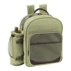 Picnic at Ascot Hamptons Picnic Backpack for Four Olive Tweed