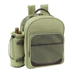 Picnic at Ascot Hamptons Picnic Backpack for Two Olive Tweed