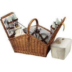 Picnic at Ascot Huntsman Basket for Four Wicker/Gazebo