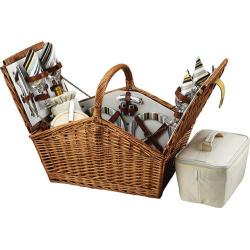 Picnic at Ascot Huntsman Basket for Four Wicker/Santa Cruz