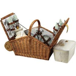 Picnic at Ascot Huntsman Basket for Four with Blanket Wicker/Gazebo