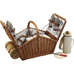 Picnic at Ascot Huntsman Basket for Four with Blanket Wicker/London