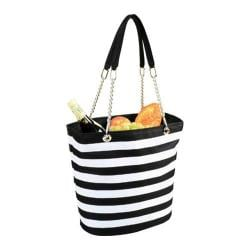 Picnic at Ascot Insulated Cooler Tote Black/White Stripe