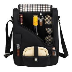 Picnic at Ascot London Pinot Wine and Cheese Cooler Black/Plaid