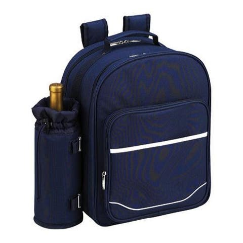 Picnic at Ascot Picnic Backpack for Two Navy/White