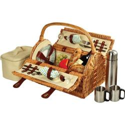Picnic at Ascot Sussex Picnic Basket for Two with Coffee Wicker/Gazebo