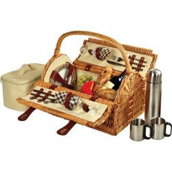 Picnic at Ascot Sussex Picnic Basket for Two with Coffee Wicker/London Plaid