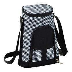 Picnic at Ascot Two Bottle Carrier and Cheese Set Houndstooth