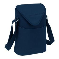 Picnic at Ascot Two Bottle Tote 11in Navy