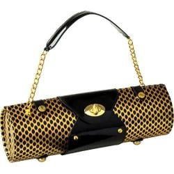 Women's Wine Carrier/Purse Gold/Black