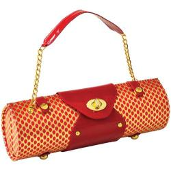 Women's Wine Carrier/Purse Gold/Red