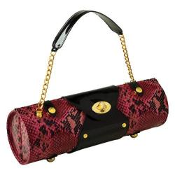 Women's Wine Carrier/Purse Pink Snake