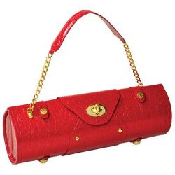 Women's Wine Carrier/Purse Red Croc