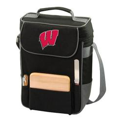 Picnic Time Duet Wisconsin Badgers Embroidered Black/Grey