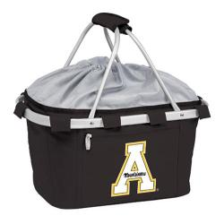 Picnic Time Metro Basket Appalachian State Mountaineers Print Black