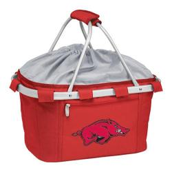 Picnic Time Metro Basket Arkansas Razorbacks Print Red