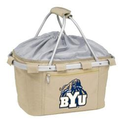 Picnic Time Metro Basket BYU Cougars Embroidered Tan