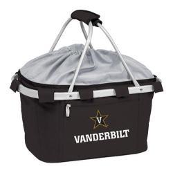 Picnic Time Metro Basket Vanderbilt U Commodores Print Black